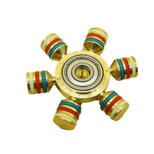 Rainbow  Spinner Metal Finger Spinner  Brass For Autism Adult Anti Relieve Stress Toy Spiner