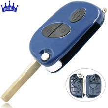 3 Buttons Smart Flip Folding Key Blank Fob Key Case Remote Shell Cover for Maserati GRAN TURISMO QUATTROPORTE(China)