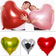 1pc Big Heart Inflatable Balloon Aluminum Foil Wedding Decoration Marriage Party Candy Festival 80*75cm AY870737