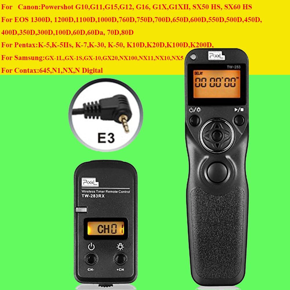 Pixel TW283 TW-283 E3 Wireless Timer Remote Control for Canon 700D 600D 100D 550D 1200D 1100D 750D 650D 60D 70D Shutter Release<br><br>Aliexpress