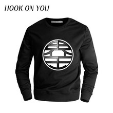 2017 New Arrival Hot Anime Men High Quality Fleece Dragon Ball Online Z O-Neck Hoodie Brand Clothes Homme Top Hip Hop Sweatshirt