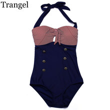 Trangel new one piece swimsuit women sexy swimwear 2017 vintage striped style bikini one piece monokini bathing suit EG504