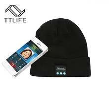 TTLIFE Fone De Ouvido Bluetooth Headphone Women Hat in Winter Earphone Cap Sport Outdoor Auriculares with Mic For IPhone Xiaomi