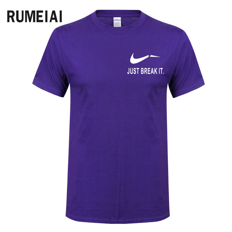 RUMEIAI Fashion Men T-Shirts Male US Size T shirt Homme Summer cotton Short Sleeve T Shirts Brand Men's Tee Shirts Man Clothes 6