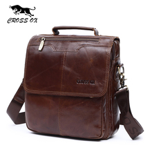 CROSS OX 2017 Spring New Arrival Genuine Leather Genuine Leather Men's Bag Shoulder Bags For Men Cross body Bag Portfolio SL392M(China)