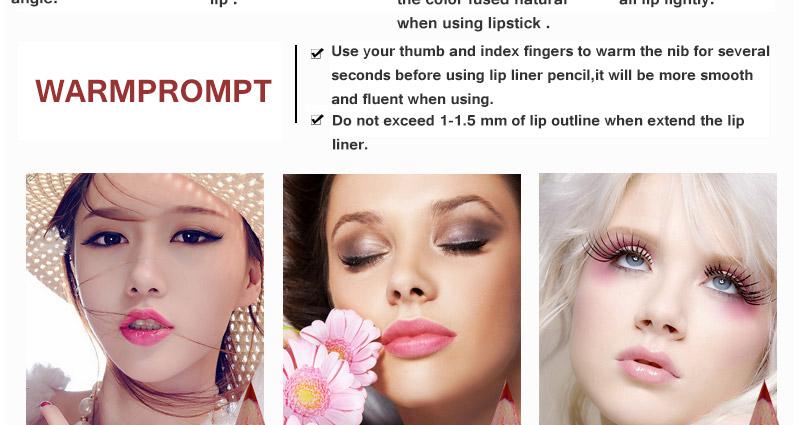 Magical Halo 12pcs/set Pro Waterproof Bright Pencil Lip Liner Pencil Makeup Cosmetic For Lips Long Lasting Lipliner Pen Lipliner 17