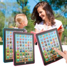 Hot! YKS Pink Blue Tablet Pad Computer For Kid Children Learning Tool English Educational Teaching Toy New Sale