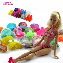 Fashion Swimsuits Handmade Mix Styles Summer Swimming Bikini Swimwear Outfit Slippers Shoes For Barbie Doll Accessories Toy Gift