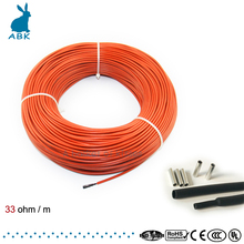 10m-100m infrared carbon fiber heating wire heating cable system 12K 33ohm European heating equipment safe and tasteless