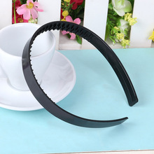 10PCS 15mm plain Black ABS Plastic Headbands with lateral teeth suitable to DIY hair accessories,eco-friendly material