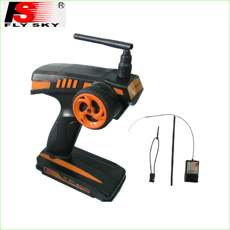 FS Flysky FS-GT2 FS GT2 2.4G 2CH Gun RC System Transmitter/Controller With Receiver for Car and Boat<br>