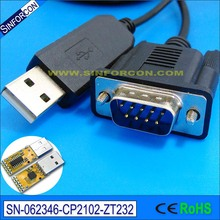 windows linux mac android silicon labs cp2102 usb rs232 db9 serial adapter converter cable for barcoder scanner pos rs232 device