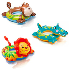 Green PVC animals floating ring child inflatable swim ring life buoy for 3-6 years old baby ring Float in the pool baby float