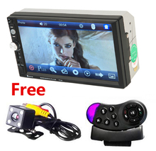 Car Radio 2 Din In Dash 7 Inch Touch Screen Auto audio Player MP4 MP5 bluetooth USB SD MP3 Rear View Camera autoradio 2din(China)