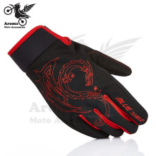 red chinese style Dragon motocross gloves motorcycle Racing GlovesKnight Moto Accessories ATV ski Parts sports Protective parts