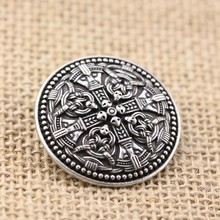 LANGHONG 1pcs Nordic Vikings Amulet Brooches Sweden National Costume Brooches Viking brosch with gripping beast jewelry Talisman
