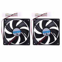2pcs 120mm 120x25mm 4Pin DC 12V Brushless PC Computer Case Cooling Fan New Promotion(China)