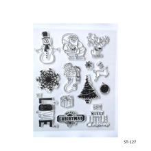 Christmas combination Clear Stamp Seal LETTERS &NUMBERS Pattern Photo Album Scrapbooking DIY craft 1 Sheet.(China)
