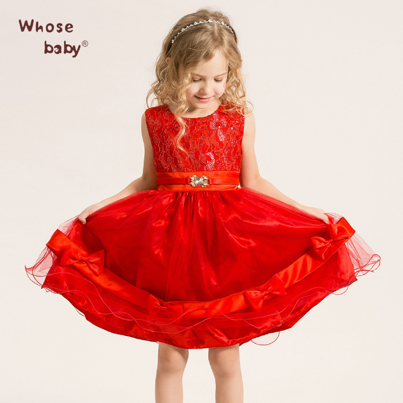 Baby Girl Princess Dress 3-8 Years Kids Sleeveless spring &amp; summer Dresses for Toddler Girl Children Sequined Fashion Clothing<br><br>Aliexpress