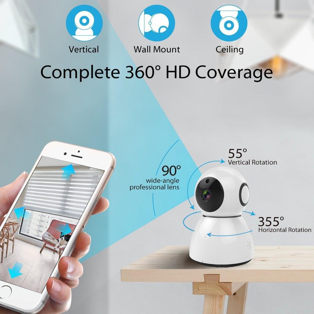 Wireless Wifi IP Camera Pan Tilt IR-Cut Home Security Camera 1080P Night Vision CMOS CCTV Network IP Camera Phone Control<br>