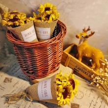 10pcs/lot Sunflower Artificial flower for Wedding scrapbook Decoration DIY wreaths craft Flowers wedding gift decoration
