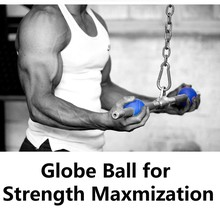 One Pair of Fat Grips Globle Ball Thick Bar Strength Max Hand Fat Grip Ultimate Workout Arm Builder Thicker Bar  More Muscle