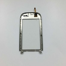 Touch Screen Panel Digitizer Glass Lens Sensor Replacement + Silver Frame Bezel Housing +Tracking Number For NOKIA C7