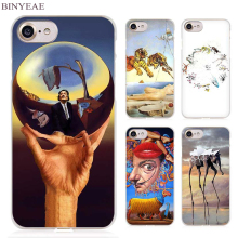 BINYEAE Salvador Dali Clear Cell Phone Case Cover for Apple iPhone 4 4s 5 5s SE 5c 6 6s 7 7s Plus