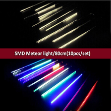 DHL free10pcs/set,80cm SMD Christmas outdoor Falling Star Meteor festival decorative light For Tree fairy lights arvore de natal