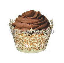 Hot sell Laser Cut Cupcake Wrapper muffin cake wraps cupcake holder For Girls birthday 120pcs/lot