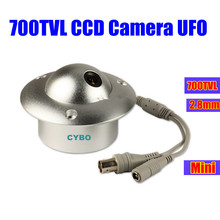 sony ccd cctv Camera 700TVL COLOR 2.8mm mini wide angle Video suveillance camera UFO for elevator lift(China)