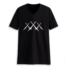 Metal Music Metallica X Man V Neck Letter Print T shirt Male Tshirt Men Tee Shirts Hiphop Skateboard Black 2017 Summer Clothes