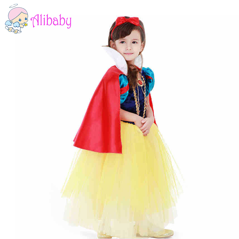 Chiffon lace Sequins Kids Girl Dancing Party Pageant Dress princess Snow white costume cosplay Wears for age 3-10 Christmas gift<br><br>Aliexpress