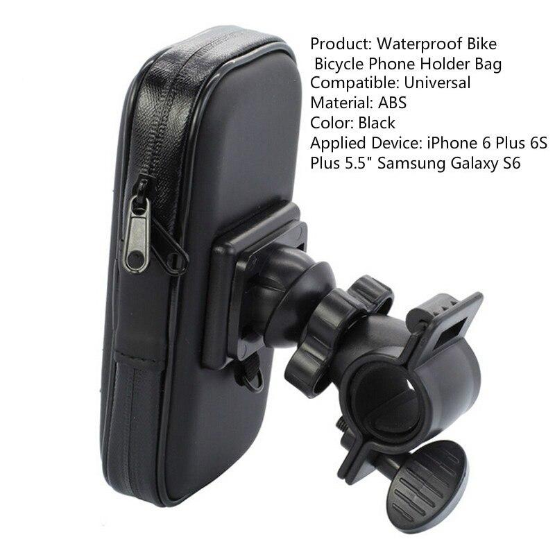Fimilef Motorcycle Bike Ride Phone Waterproof Bag Case Adjustable Holder Handlebar Mount Dustproof Bag Navigation Phone Stand (2)