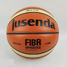 Official Standard Size 7 Jusenda GJ7X PU Leather Indoor Outdoor Basketball Ball Training Equipment Free Gift Pin Net Bag(China)