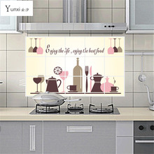 YunXi New Hot 45cm*75cm Kitchen Decor Bathroom Mural Wall Sticker Adhesive Poster Picture Ceramic Tile 45*75CM(China)