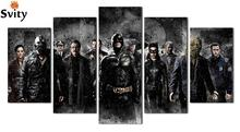 5pcs/set UnFramed Printed Batman Movie Poster Group Painting children's room decor print poster picture canvas Free shipping