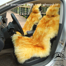 1 pc sheepskin car seat cover car accessories made in China factory price real fur car cushion pad universal fit free shipping(China)