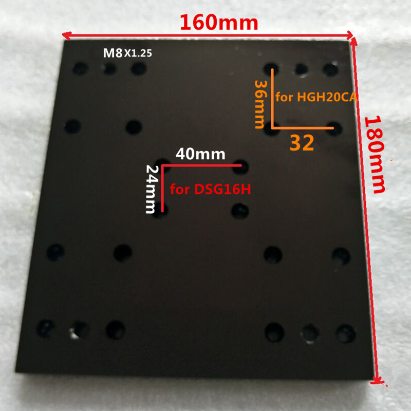 1 PCS Module sliding table CNC aluminum plate  for DSG16H and SBR16UU OR Suitable for HGH20CA and DSG16H <br>