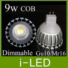 Cob Led Spotlight 9w Dimmable Led Lamp Gu10 Mr16 E27 Led Lights For Home 650lm Replace 80w halogen lamp warm / cool white