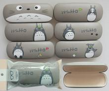 10PCS Creative Lovely Cartoon Totoro gray Cute Japanese Anime Metal Glasses Box Spectacle Case sundries storage box