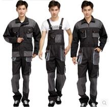 S-4XL ! HOT 2017 New Men's clothing one piece work wear coverall jumpsuit wear-resisting tooling outerwear PLus size bib pants(China)