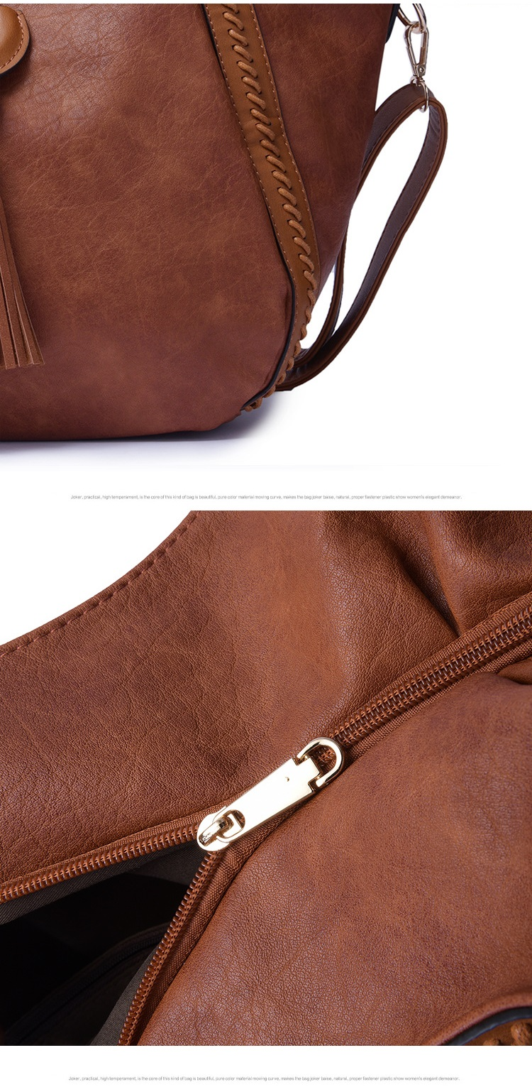 NIGEDU Leather Casual Tassel Handbag Large Famous Brands Designers Pu Leather Handbags Women Big Tote Bags Female Messenger Bags Bolsos Blue (13)