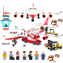 GUDI 856+pcs Large Passenger Plane Airplane Building Block Bricks Assemblage Education Toys Model Brinquedos Gift for childs8913
