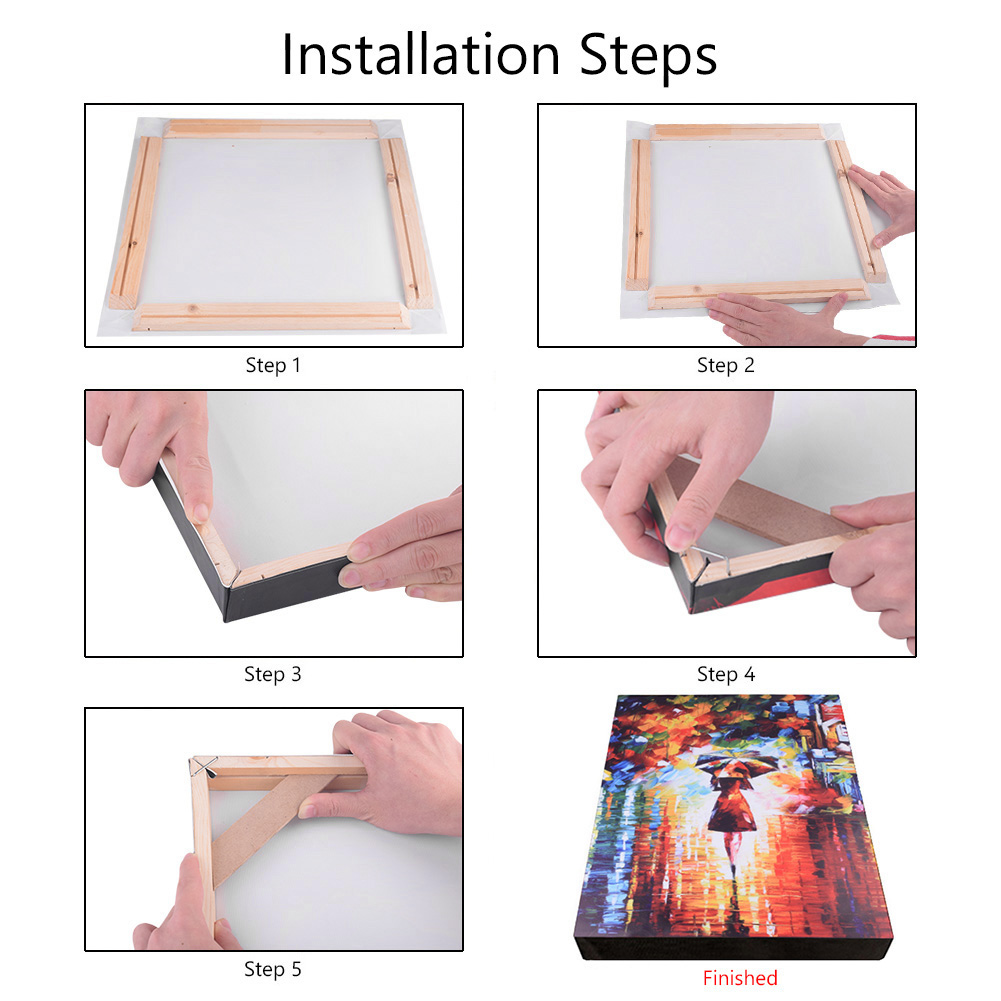 4Pcs Set Wood Frame Stretcher For Canvas and Paintings 6