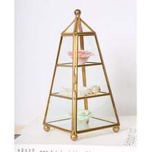 Home decorative vase garden art flower pot planters depot metal stand shelf table decoration Geometric organizer jewelry storage(China)