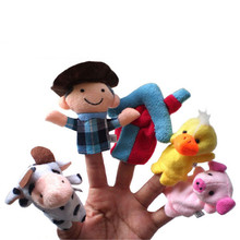 2016 New Design  10PCS Set Animal Finger Puppet Plush Toys for Baby Old Macdonald Had A Farm YTY01
