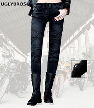 Uglybros Guardian Ubp09 Straight jeans Motorcycle protective pants Women's moto pants Road riding pants SIZE: 25 26 27