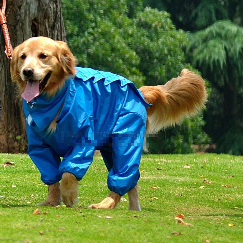 Large Dog Raincoat Big Dog Jumpsuit Rain Jacket Waterproof