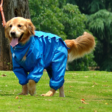 Large Dog Raincoat Big Dog Jumpsuit Rain Jacket Waterproof Clothing for Dogs golden retriever Labrador Sibirskiy haski Clothes(China)